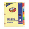 Avery WorkSaver Big Tab Dividers w/CPR Holes, Eight Multicolor Tabs, Letter, Buff (AVE23284)