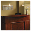 Mayline Sorrento Series Reception Desk Counter with Wood Veneer Top, Bourbon Cherry (MLNSRCSCR)