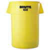 Rubbermaid Commercial Brute Round Container, 44gal, Yellow (RCP2643YEL)