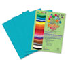 Roselle Premium Sulphite Construction Paper, 76 lbs., 12 x 18, Turquoise, 50/Pack (RLP76002)