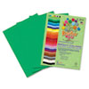 Roselle Premium Sulphite Construction Paper, 76 lbs., 9 x 12, Holiday Green, 50/Pack (RLP74101)