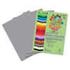 Roselle Premium Sulphite Construction Paper, 76 lbs., 12 x 18, Pearl Gray, 50/Pack (RLP74402)