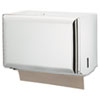 San Jamar Standard Key-Lock Singlefold Towel Dispenser, Steel, 10 3/4 x 6 x 7 1/2, White (SJMT1800WH)