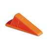 Master Caster Giant Foot Doorstop, No-Slip Rubber Wedge, 3-1/2w x 6-3/4d x 2h, Safety Orange (MAS00965)