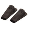 Master Caster Big Foot Doorstop, No-Slip Rubber Wedge, 2w x 4-3/4d x 1-1/4h, Brown, 2/Pack (MAS00971)