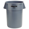 Rubbermaid Commercial Brute Round Container, 44gal, Gray (RCP2643GRAY)