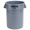 Rubbermaid Commercial Brute Round Container, 32gal, Gray (RCP2632GRAY)