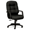 Hon 2090 Pillow-Soft Executive High-Back Swivel/Tilt Chair, Black Fabric/Black Base (HON2091NT10T)