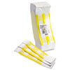 Mmf Industries Self-Adhesive Currency Straps, Yellow, $1,000 in $10 Bills, 1000 Bands/Box (MMF216070G12)