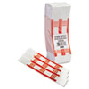 Mmf Industries Self-Adhesive Currency Straps, Red, $500 in $5 Bills, 1000 Bands/Box (MMF216070F07)