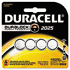 Duracell Button Cell Lithium Battery #2025, 4/Pk (DURDL20254PK)