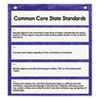 Carson-Dellosa Publishing Pocket Chart, Daily Standards, 5 Pockets, Polyester, 13w x 14h, Blue, 1 Kit (CDP158174)