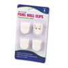Advantus Panel Wall Clips for Fabric Panels, Standard Size, White, 4/Pack (AVT75300)
