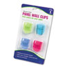 Advantus Fabric Panel Wall Clips, Standard Size, Assorted Cool Colors, 4/Pack (AVT75306)