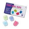 Advantus Fabric Panel Wall Clips, Standard Size, Assorted Cool Colors, 20/Box (AVT75307)