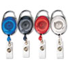 Advantus Carabiner-Style Retractable ID Card Reel, 30 Extension, Assorted Colors, 20/PK (AVT75552)