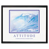Advantus Attitude/Waves Framed Motivational Print, 30 x 24 (AVT78024)