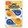 BIC Wite-Out EZ Correct Correction Tape, Non-Refillable, 1/6 x 400, 4/Pack (BICWOTAPP418)