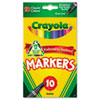 Crayola Non-Washable Markers, Fine Point, Classic Colors, 10/Set (CYO587726)