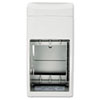 Bobrick Matrix Series Two-Roll Tissue Dispenser, 6 1/4 x 6 7/8 x 13 1/2, Gray (BOB5288)