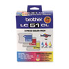 Brother LC513PKS Ink, 400 Pg-Yld, Cyan, Magenta, Yellow, 3/Pk (BRTLC513PKS)