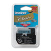 Brother P-Touch M Series Tape Cartridge for P-Touch Labelers, 3/8w, Black on Blue (BRTM521)
