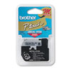 Brother P-Touch M Series Tape Cartridge for P-Touch Labelers, 3/8w, Black on Silver (BRTM921)