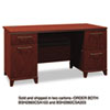Bush 60W Double Ped Desk (B/D, F/F) Box 2 of 2 Enterprise Harvest Cherry (BSH2960CSA203)