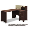 Bush 60W x 47D Corner Desk Solution (Box 1 of 2) Enterprise Mocha Cherry (BSH2999MCA103)