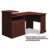 Bush Expandable Corner Desk Solution (B/F/D) Box 1 of 2 Syndicate Harvest Cherry (BSH6399CSA103)