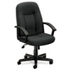 Basyx VL601 Series Managerial Mid-Back Swivel/Tilt Chair, Charcoal Fabric/Black Frame (BSXVL601VA19)