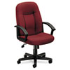 Basyx VL601 Series Managerial Mid-Back Swivel/Tilt Chair, Burgundy Fabric/Black Frame (BSXVL601VA62)