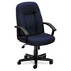 Basyx VL601 Series Managerial Mid-Back Swivel/Tilt Chair, Navy Fabric/Black Frame (BSXVL601VA90)
