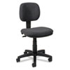 Basyx VL610 Series Swivel Task Chair, Charcoal Fabric/Black Frame (BSXVL610VA19)