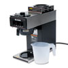 Bunn 12-Cup Two-Station Commercial Pour-O-Matic Coffee Brewer, Stainless Steel, Black (BUNVP172BLK)