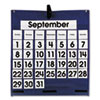 Carson-Dellosa Publishing Monthly Calendar 43-Pocket Chart with Day/Week Cards, Blue, 25 x 28 1/2 (CDP158156)