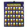 Carson-Dellosa Publishing Attendance/Multiuse Pocket Chart, 35 Pockets/Two-Sided Cards, Blue, 30 x 37 1/2 (CDPCD5644)