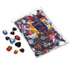 Chenille Kraft Gemstones Classroom Pack, Acrylic, 1 lbs., Assorted Colors/Sizes (CKC3584)