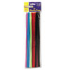 Chenille Kraft Regular Stems, 12 x 4mm, Metal Wire, Polyester, Assorted, 100/Pack (CKC711201)