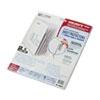 C-Line Polypropylene Sheet Protectors with Index Tabs, Clear Tabs, 11 x 8 1/2, 5/ST (CLI05557)