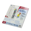 C-Line Poly Sheet Protectors with Index Tabs, Assorted Color Tabs, 11 x 8 1/2, 8/ST (CLI05580)