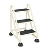 Cramer Stop-Step Three-Step Aluminum Ladder, 21-3/8w x 27-1/4d x 31-3/4, Beige (CRA103019)