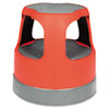 Cramer Scooter Stool Round, 15, Step & Lock Wheels, to 300 lbs, Red (CRA50011PK43)