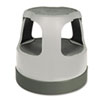 Cramer Scooter Stool Round, 15, Step & Lock Wheels, to 300 lbs, Gray (CRA50011PK82)