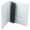 Cardinal Vinyl ClearVue XtraValue Slant D-Ring Presentation Binder, 1 Capacity, White (CRD17200)