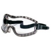 Crews Stryker Safety Goggles, Chemical Protection, Black Frame (CRW2310AF)