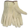 Memphis Economy Leather Driver Gloves, Large, Beige (CRW3215L)