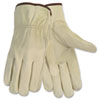 Memphis Economy Leather Driver Gloves, Medium, Beige (CRW3215M)