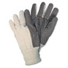 Memphis Dotted Canvas Gloves, White, Dozen (CRW8808)