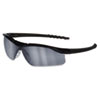 Crews Dallas Wraparound Safety Glasses, Black Frame, Gray Indoor/Outdor Lens (CRWDL119AF)